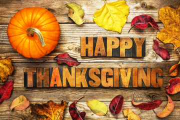 Happy Thanksgiving - CLOSED